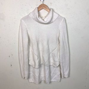 Moth High Low Knit Cowl Neck Sweater Medium